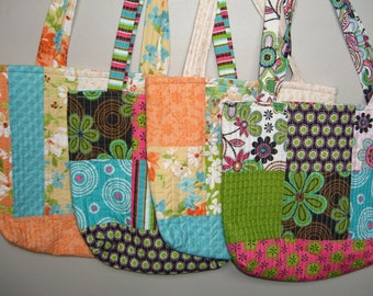 Patchwork Multi Coloured Tote Bags