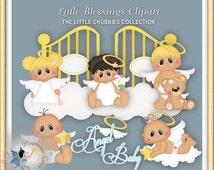 Little Blessings Baby Angel Clipart