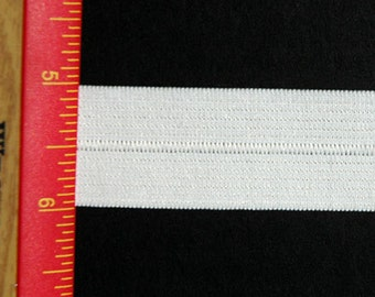 "1"" Foldover Elastic - White Knit Foldover Sports Elastic Item # HNWK126-100-102"