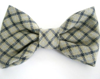 Dog Bow Tie Small Medium Large Elegant Plaid Dog Bowtie