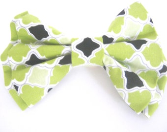 Dog Bow Tie Small Medium Large Green Dog Bow Tie