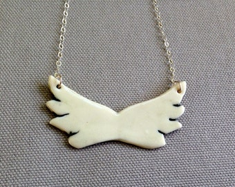 Porcelain Wing Necklace