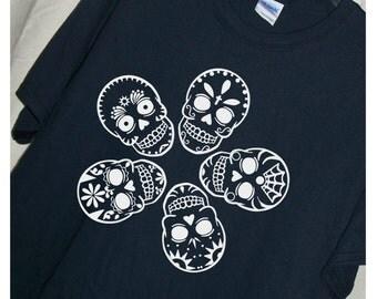 SUGAR SKULLS Tshirt Dia De Los Muertos T Shirt