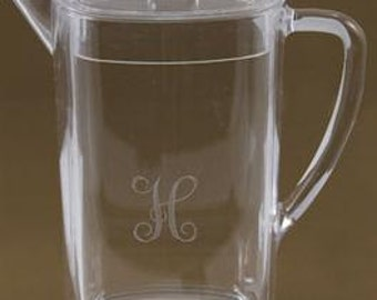 Engraved Acrylic Pitcher