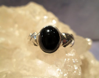 Black Onyx  Man's Ring ~Sterling Silver~ Handmade