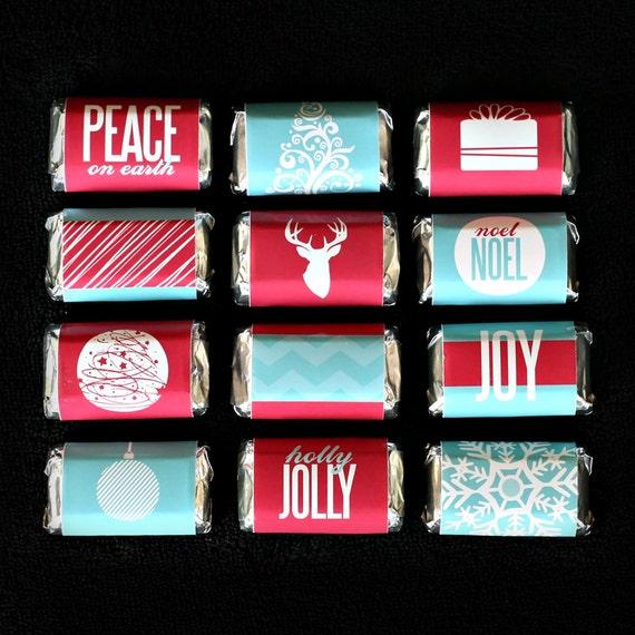 Christmas Candy Bar Wrappers Printable Digital File
