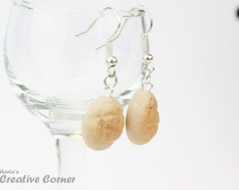 DISCOUNTED Melonpan Earrings,  Ready to ship
