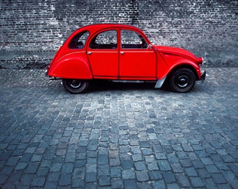 """The Red """"Deux Chevaux"""", The Ugly Duckling 1979"""
