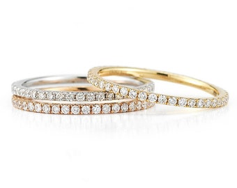 Stacking Rings, Stackable Rings, Diamond Stacking Rings, Stackable Diamond Rings, Stackable Rings For Women, Diamond Band, Diamond Band Ring