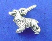 COCKER Spaniel, Springer Spaniel, Miniature Small Dog Charm .925 Sterling Silver