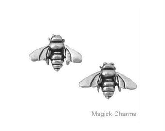 HONEY BEE EARRINGS .925 Sterling Silver Post Stud - se507