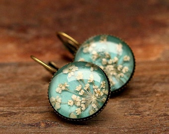 Genuine dill flowers earrings E227