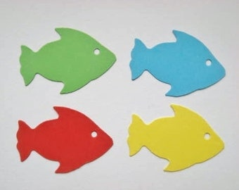 50 Cute Fish Die cuts for childrens cards toppers cardmaking scrapbooking craft project