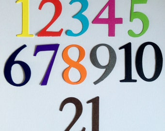 Full set of Number die cuts or choose your own in Bright colours for cards/toppers cardmaking scrapbooking craft project
