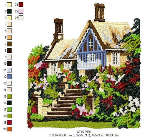 Jumbo Cottages Embroidery Designs - PES