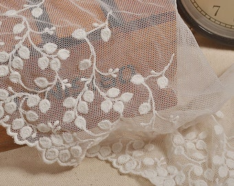 DIY leaves Lace ribbon online store leaf ambroidered  Fashion  Fabric Wave  Lace Trim Edges Craft For Sewing