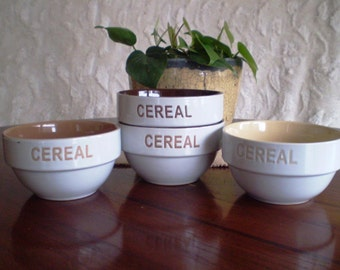 Shades of Brown Cereal Bowls - Set of Four