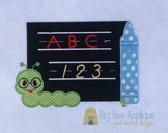 Back to School Applique Design Embroidery