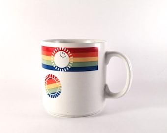 Retro RUSS rainbow coffee mug