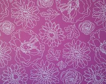 12x12 Dark Background with White Flowers Paper