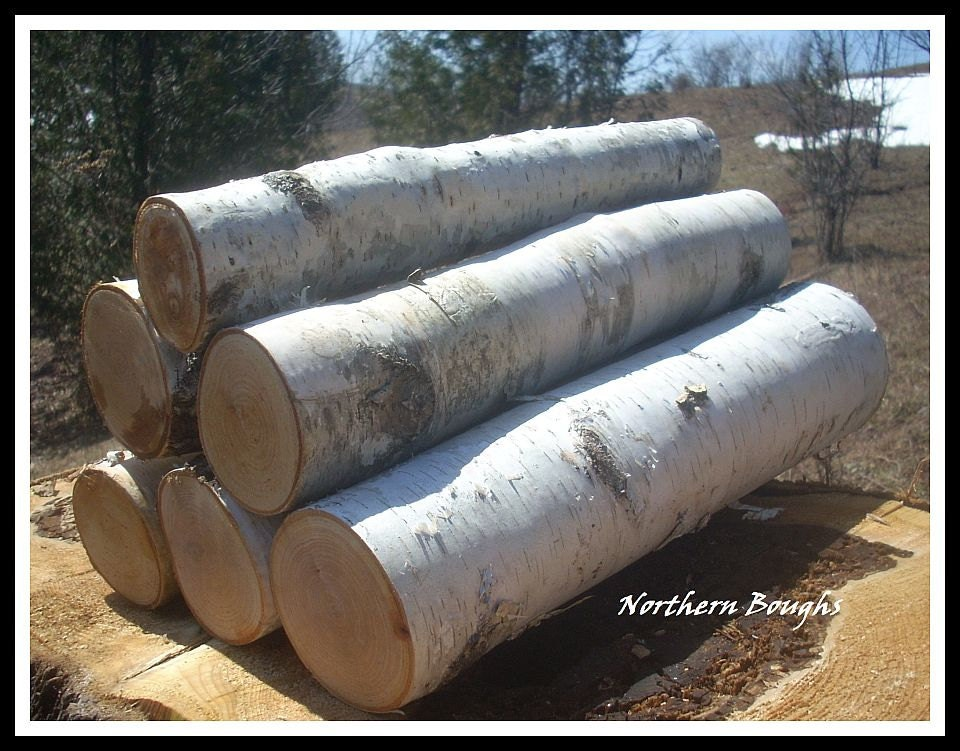 16 Birch Logsfireplace Logs Log Set Logs Home By Northernboughs