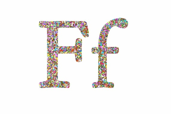 Items similar to glitter letter f resin letter filled for Letter f decoration