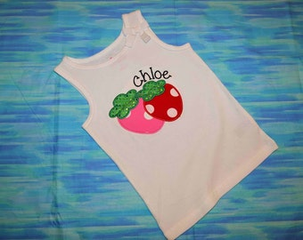 Summer Time Strawberry Applique Shirt