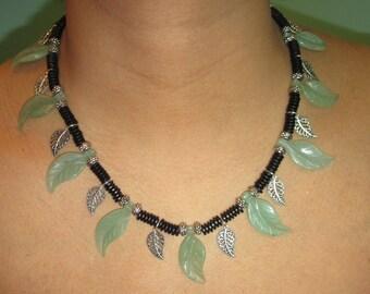 Last Leaves of Summer Aventurine Necklace Set