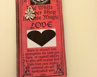 The White Clover Shop's Love Incense...Burn to attract new, renew, or strengthen love