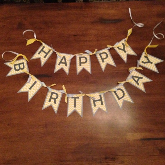 Happy Birthday Banner - Personalized Banner