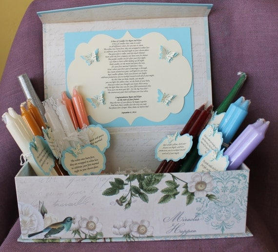 Wedding Candle Gift With Poem : Candle Poem Gift Set. Bridal candle basket. Sentimental wedding gift ...