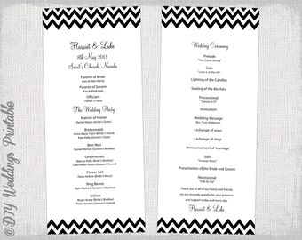 wedding processional order template - wedding program fan template rustic burlap lace
