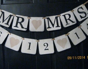 Mr. Mrs. Banner/Save the Date/Wedding Decor/Photo Prop