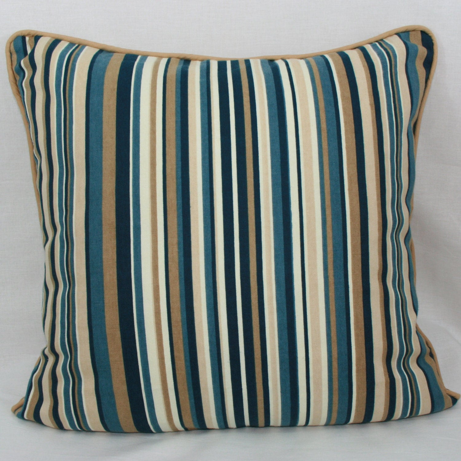 blue and tan throw pillows blue and striped decorative throw pillow 20 by 7926