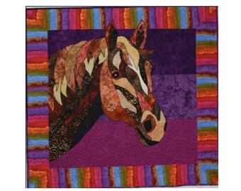 Horse fusible applique quilt pattern appliq patterns for Bj custom designs