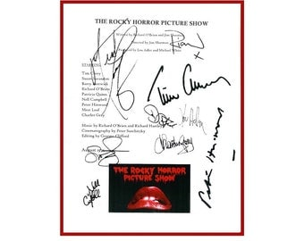 The Rocky Horror Picture Show Movie Script Autographed Signed Tim Curry, Susan Sarandon, Barry Bostwick, Richard O'Brien, Nell Campbell +