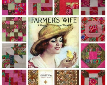 Farmer's Wife Quilt Revival Class 7. Learn to make The Farmer's Wife Sampler Quilt with modern cutting and piecing techniques!
