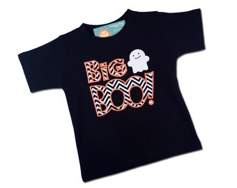 "Boy's Halloween Shirt with ""Big Boo"" or ""Lil Boo"" Ghost Sibling Shirt"