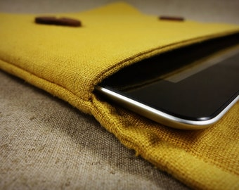 Handmade Original Unique Rustic Yellow iPad Air 2 sleeve.pouch.case.bag
