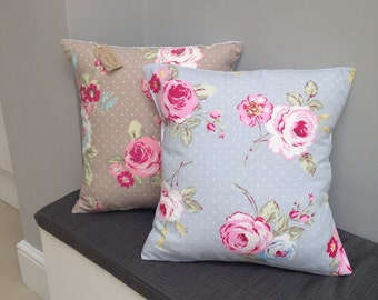 "Clarke & clarke country vintage floral 16"" cushion cover"