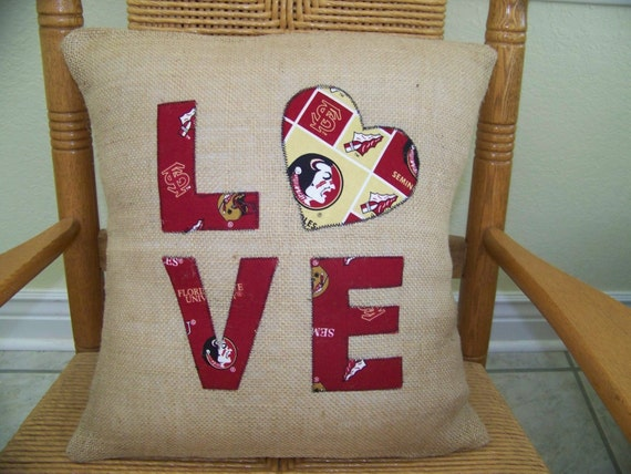 Florida State University Pillow Cover By Kelleyscollections