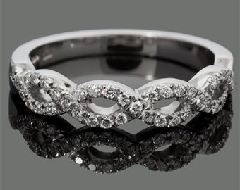 Double Helix Diamond Ring