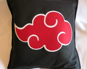"""Naruto - Akatsuki pillow cover - 20 x 20"""" with zip, 100% cotton"""