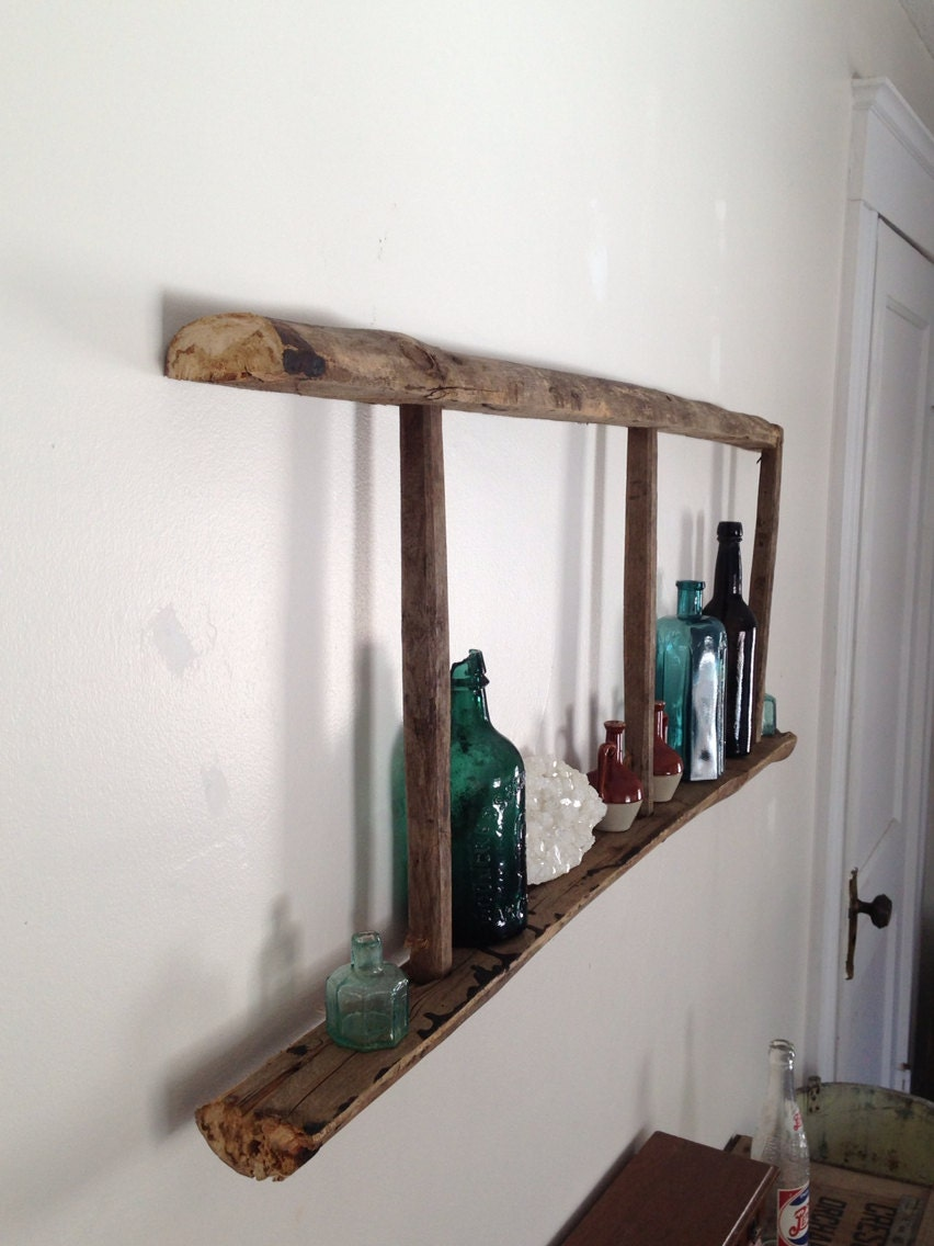 Primitive Rustic Ladder Shelf by WhatsInTheCrate on Etsy