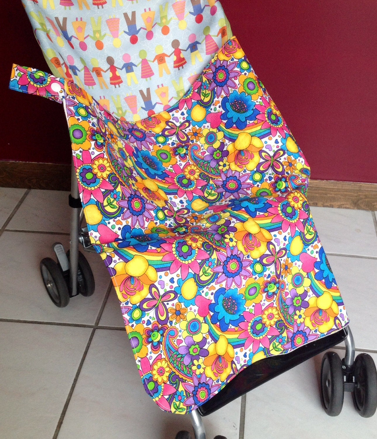 flower stroller car seat blanket cover and changing pad all. Black Bedroom Furniture Sets. Home Design Ideas