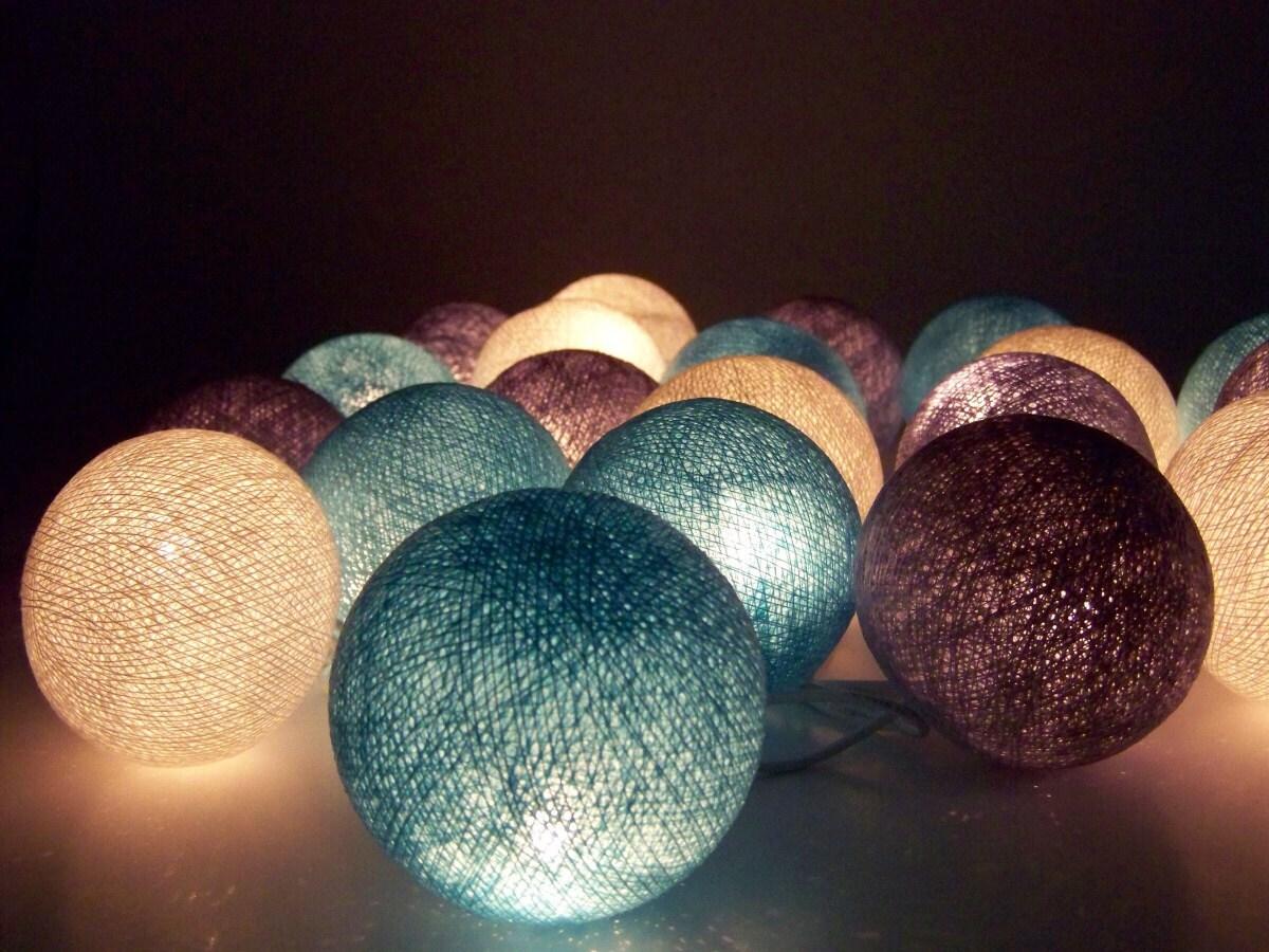 Guirnalda de luces navidad bolas de algod n 20 bolas - Bolas de navidad grandes ...