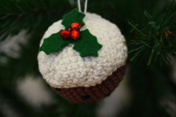 Christmas Decoration Cute Amigurumi Style Christmas Pudding Bauble Crochet - PDF Pattern