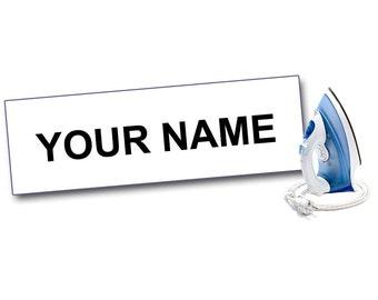 100 IRON ON Kids Labels, Camp Labels, Nursing Home Labels, Name Labels for Clothing