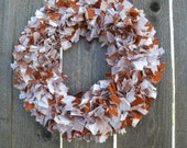 University of Texas, Longhorns, Rag Wreath -- Orange/White