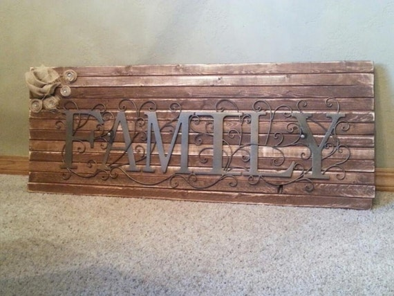 Rustic Wall Hangings family wall art/ large rustic wall hanging/ long rustic wall